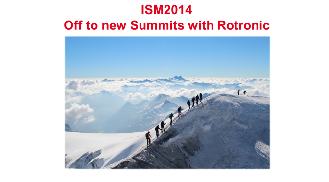 Highlights from the Rotronic ISM 2014