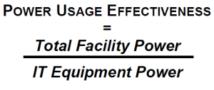 pue power usage effectiveness